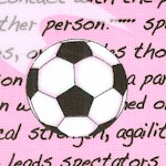 Girls Soccer - Tossed Balls and Sports Definitions on Pink