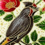 Midnight Sun - Gilded Songbirds  Butterflies and Flowers