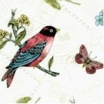 Vintage Journal - Beautiful Birds and Butterflies