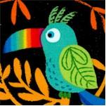 Viva Brazil! Birds of Paradise on Black