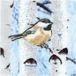 Winter - Birch Trees and Chickadees