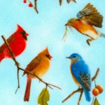 Songbirds on Blue