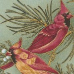 Winter Wonderland - Exquisite Gilded Cardinals - BACK IN STOCK!