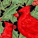Holiday Magic - Gilded Holly and Beautiful Cardinals