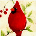 Cardinal X-mas - Holiday Birds in Trees