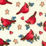 Just Believe - Small Scale Cardinals on Cream by Diana Marcum