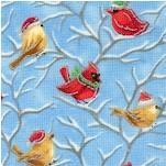 Season's Greetings - Gilded Birds