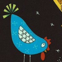 The Coop - Tossed Whimsical Hens by Kim Schaefer
