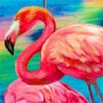 Fabulous Flamingos - Large Flamingos Allover by Ro Gregg