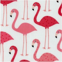 Urban Zoology - Flamingos on Ivory