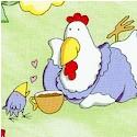 A Hen Rietta Morning by Leslie Ann Clark