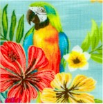 Isla - Beautiful Parrots and Hibiscus #2