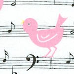 Girly Girl - Songbirds and Musical Scores on Ivory