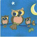 Comfy Flannel - Adorable Owls on Blue FLANNEL