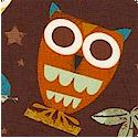 On a Whim - Whimsical Owls on Chocolate Brown