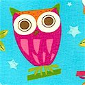 On a Whim 2 - Whimsical Owls on Aqua - BACK IN STOCK!