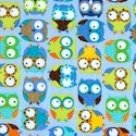 Mini Owls on Blue - BACK IN STOCK!