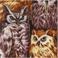 Autumn in the Forest - Gilded Packed Owls