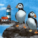Atlantic Shore - Puffins and Lighthouses