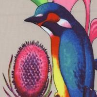 Nicole's Prints - Rainbow Rainforest on Beige