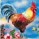 Cocka-Doodle-Doo! Beautiful Rooster Portrait Collage