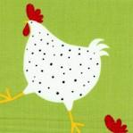 Metro Market - Whimsical Hens on Green