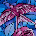 Light Fantastic - Stained Glass Roses and Birds