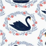 Sleeping Beauty - Black Swans on Ivory