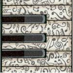 All Amped Up - Patterned Vertical Keyboard Stripe by Dan Morris