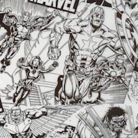 Marvel Avengers Sketch in Black and White