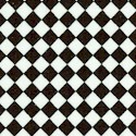 Kitschenette - Small Scale Black and White Diagonal Tiles
