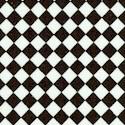 Kitschenette - Small Scale Black and White Diagonal Tiles