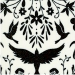 Black and White Collection - Art Nouveau Birds  Bees and Flowers