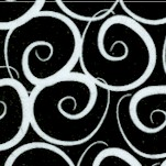 Boutique Brights - Black and White Curly-Q's