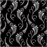 Isabella - Black and White Flourish