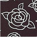 Night and Day 3 - Rose Blossoms in White on Black