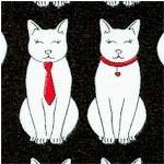 Cool Cats in Black  White and Red