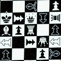 Small Scale Black and White Chess Board