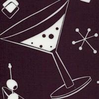 Essentials III - Tossed Retro Cocktails in White on Black