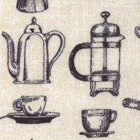 Coffee Break - Vintage Coffee Pots and Cups by Dalphine Corbin