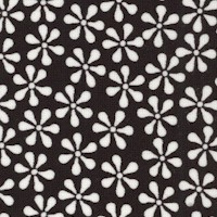 Simply Delicious - Retro Small Scale Daisies in Black and White