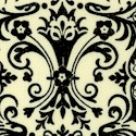 Beautiful Art Nouveau Damask on Cream