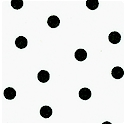 Masquerade - Tossed Black Polka Dots on Ivory - LTD. YARDAGE AVAILABLE