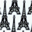 """""""La Tour Eiffel"""" by Hoodie in Black and White"""