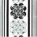 Essentials II - Wire Rose Vertical Stripe on White