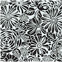 Daydreamer - Packed Black and White Floral