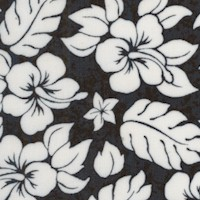 Sun, Surf, Sand - Black and White Floral by Jeremy Wright