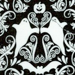 Hocus Pocus - Damask Style Halloween Design in Black and White