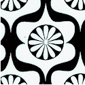 Heart Garden - Retro Daisy Design in Black and White