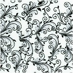 Isabella - Black and White Vine Design